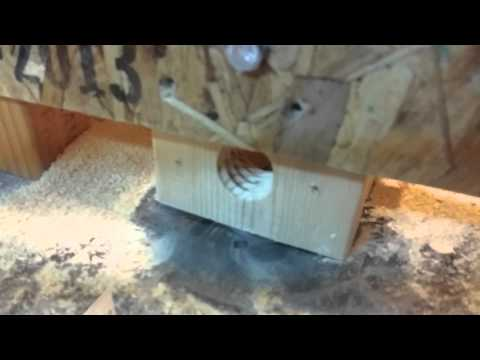 Cutting threads in wooden dowel with a router