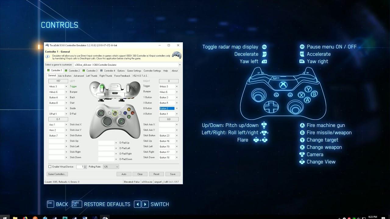 Ace Combat 7 Pc Unsupported Flight Stick Setup Tutorial Youtube