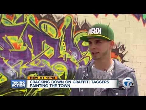 "Detroit Films/ Graffiti on Local News   ""Cracking"