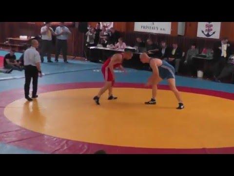 Stefan Vojcak vs Firkal Finale MSR  Bratislava 2015, wrestling free style Slovakia