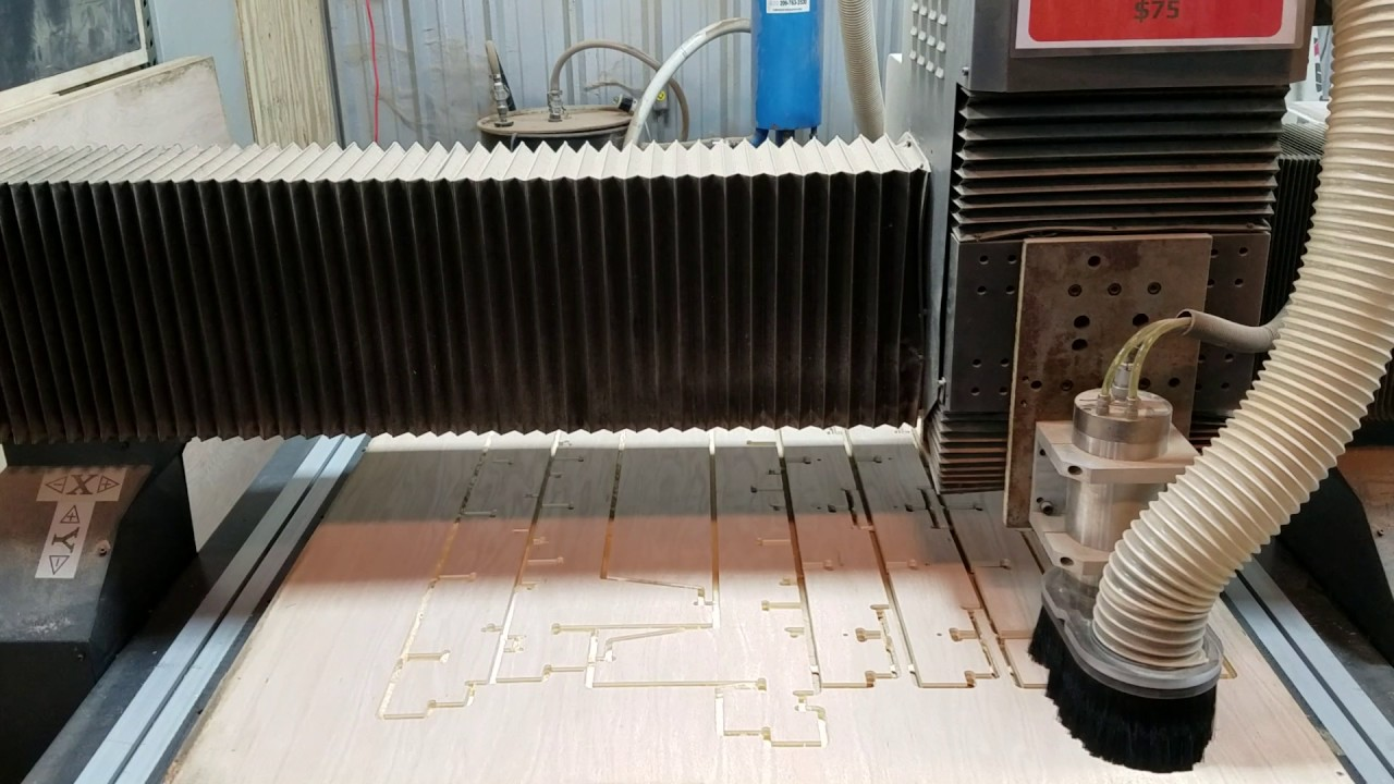 Cnc Router Timelapse 3 4 Oak Plywood Bed Project Sheet 4 Youtube