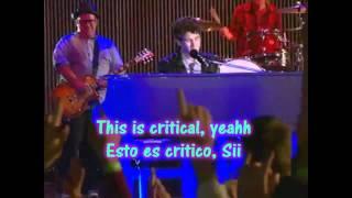 JONAS L.A - Critical  Lyrics English & Spanish - Jonas Brothers(HD)