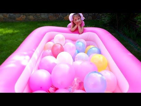 Детский бассейн пена для ванны а внутри воздушные шарики куклы LOL