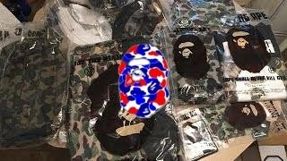 041 bape shaolin   bape   a bathing ape   unboxing   clothing   collection   outfit   pickup  review