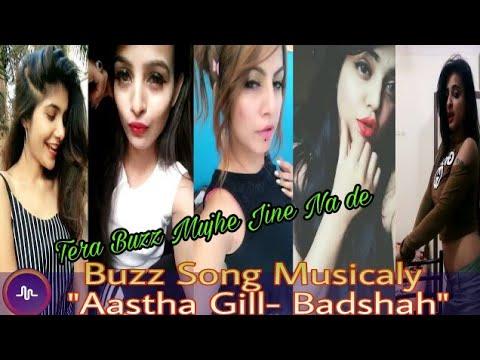 """Buzz Song """"Aastha Gill- Badshah"""" Tera Buzz Mujhe Jine Na de - Musicaly Video."""