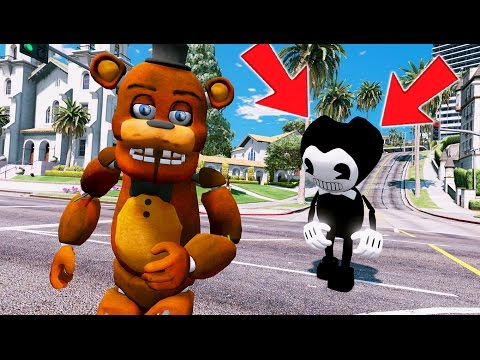 FREDDY vs BENDY & THE INK MACHINE! (GTA 5 Mods For Kids FNAF Funny Moments)