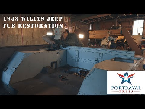 1943 Willys MB Jeep Tub Restoration Part 2 - Learning to