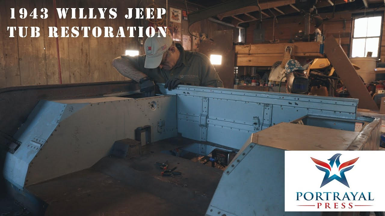 1943 Willys MB Jeep Tub Restoration Part 3 - Repairing the Rear ...