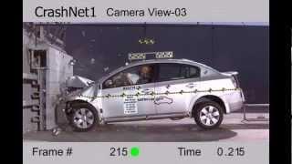Nissan Sentra   2011   Frontal Crash Test   NHTSA Hi Speed Cam   CrashNet1