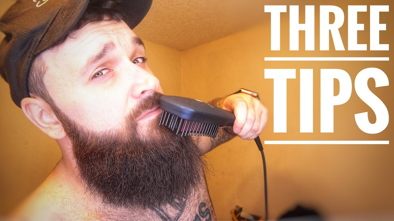 Beardtube vs Dan C Bearded - Straightening your beard  | Beardy Blogger