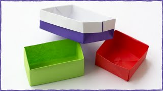 3 Easy origami boxes. Longtray Masu and  Simple box