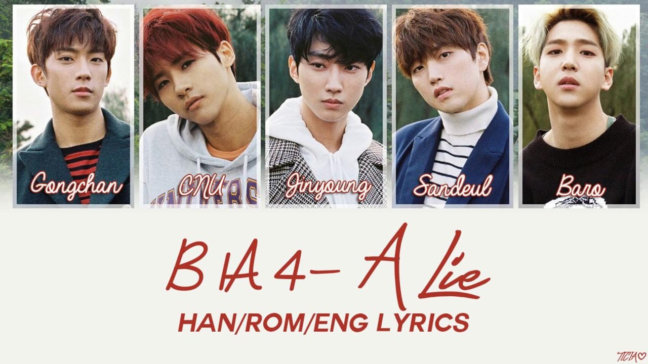 B1A4 - A Lie [Han/Rom/Eng Lyrics] - YouTube B1a4 Names
