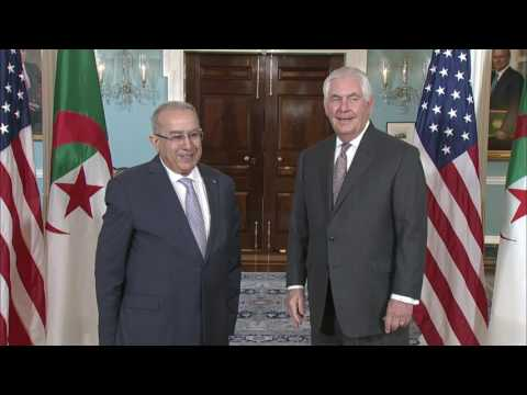 Secretary Tillerson Meets With Algerian Foreign Minister Lamamra