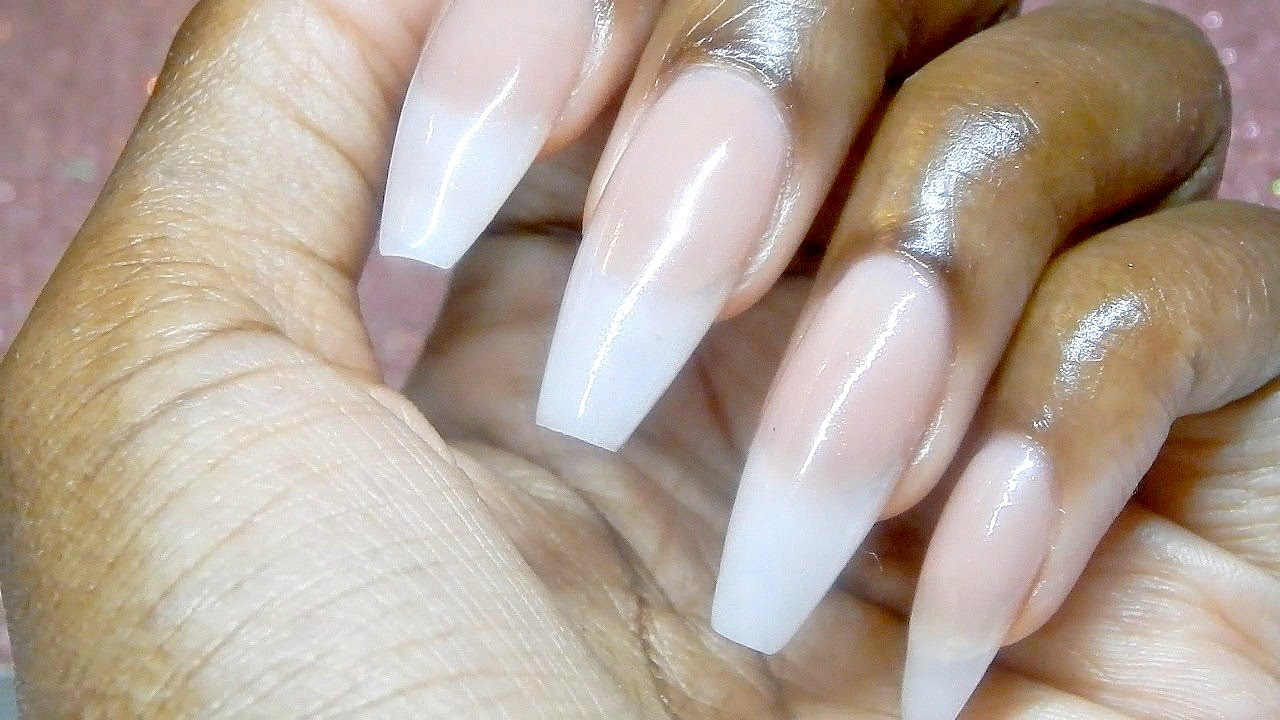 HOW TO: NATURAL ACRYLIC NAILS! - YouTube