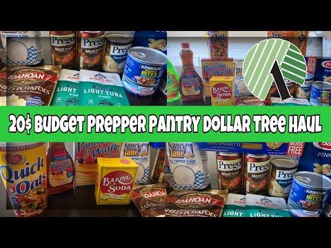$20 BUDGET PREPPING DOLLAR TREE HUAL | STOCK UP | PREPPING PANTRY