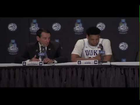 Coach K and Jahlil Okafor on Duke's loss to Notre Dame ...
