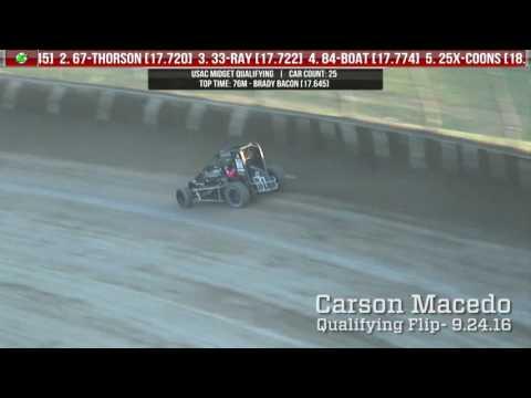 9.24.16 Four Crown Nationals  |  Tony DiMattia and Carson Macedo flips