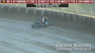 Eldora Speedway Four Crown Nationals Tony DiMattia & Carson Macedo Flips