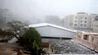 Massive hail storm in Vrindavan, India April 3, 2015