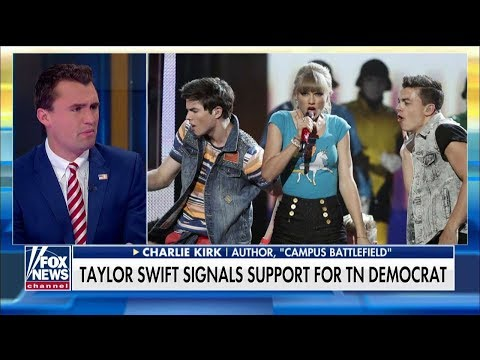 'Stay Away From Politics': Charlie Kirk Reacts to Taylor Swift Endorsing Blackburn Opponent