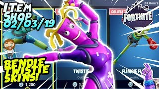 *NEW* BENDIE AND TWISTIE SKINS GAMEPLAY! Fortnite Item Shop [March 2nd, 2019]