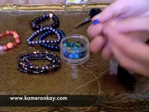 How to make Stretch Bracelets - YouTube