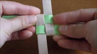 チラシで作るカゴ編み Part 1 thumbnail