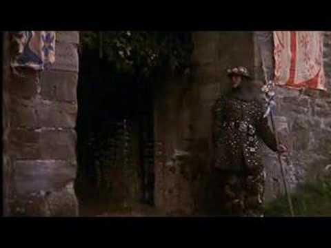 Sir Lancelot attacks castle Python - YouTube