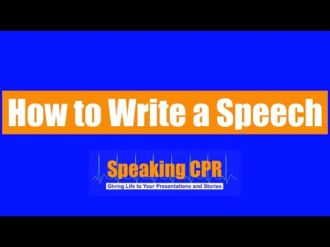How to Write a Speech - Want to Be Funny? STOP Telling Jokes!