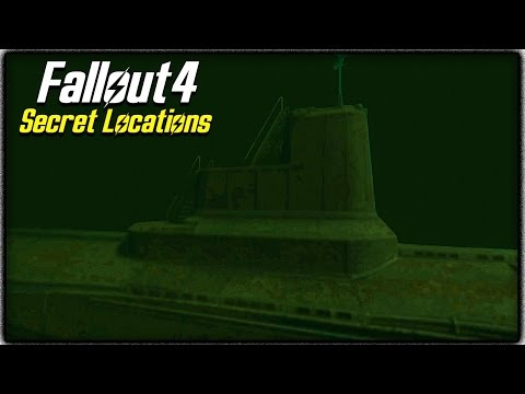Fallout 4 Secret Locations! HIDDEN YANGTZE SUBMARINE & FUN EASTER EGG BUILDING!