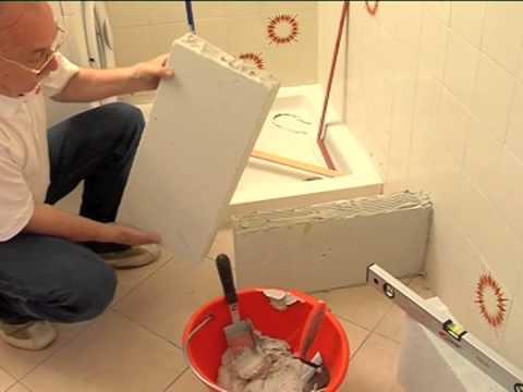 Rifare il bagno  Costruire un muretto in gasbeton per il lavabo  YouTube