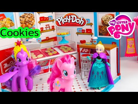 Queen Elsa Disney Frozen Miworld Mrs. Fields Cookie Shop Playdoh MLP Pinkie Pie Bakery Playset
