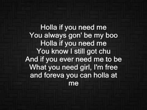 holla if you need me lyrics