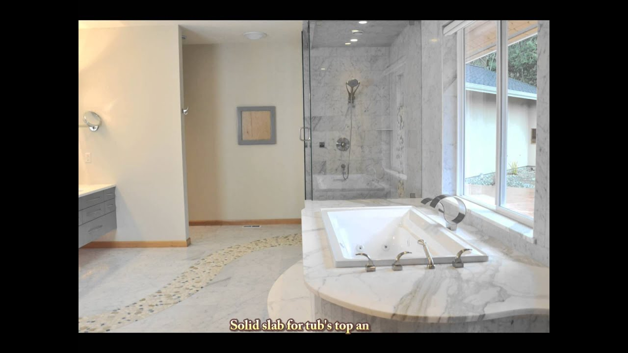 Tile Marble Shower Tub And Floor With River Rock Pebbles How To - Pebble tiles for bathroom floor