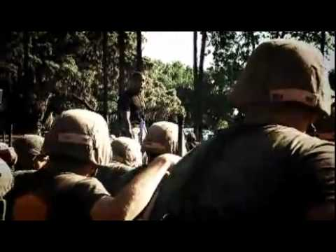 00 Marine Corps Boot Camp  Bayonet Assault Course Part 3 12