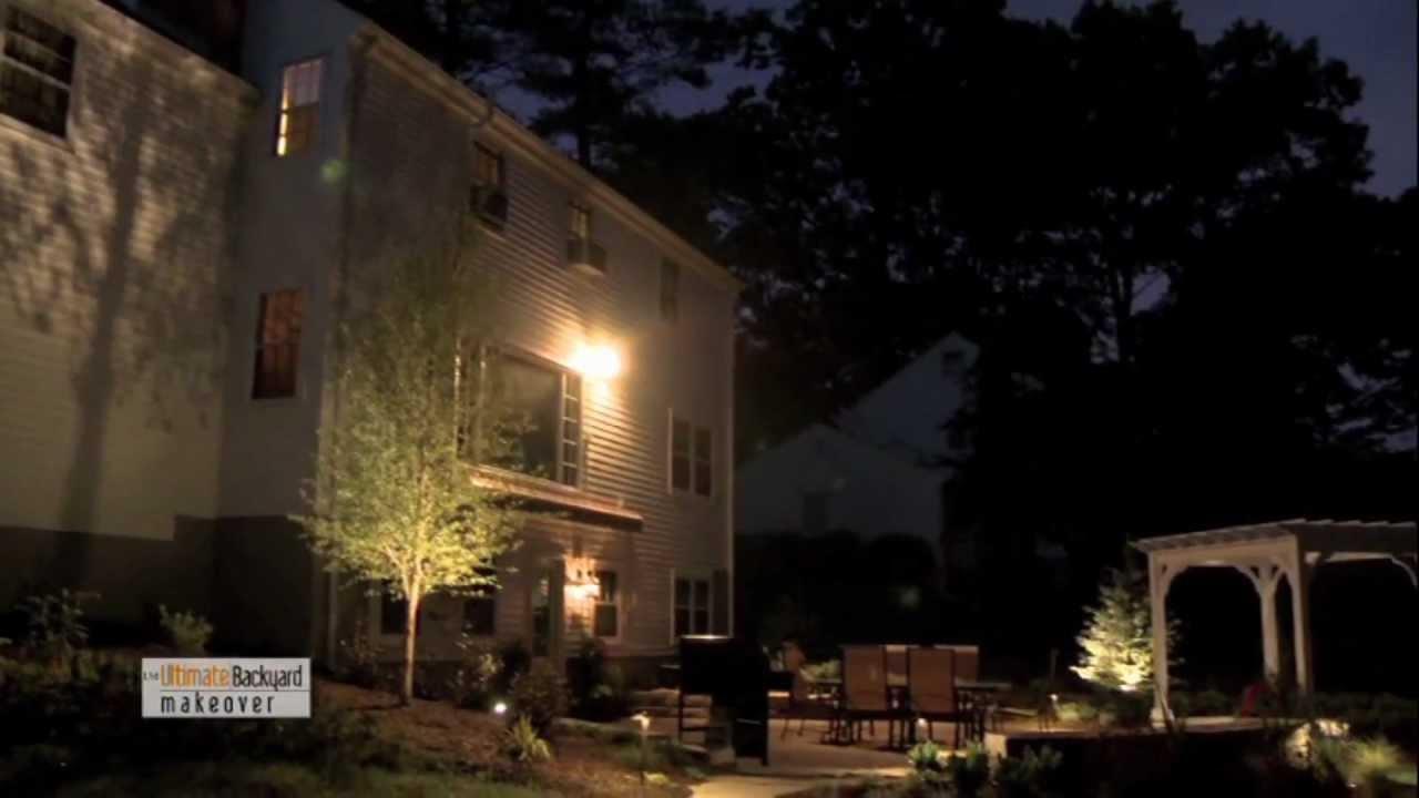 ultimate backyard makeover 2012 led landscape lighting youtube