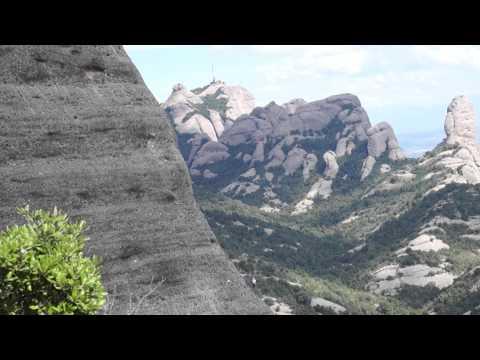 Rock climbers at Montserrat