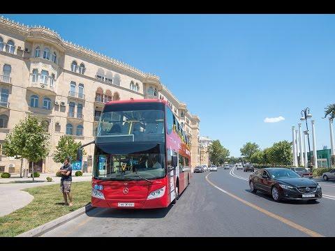 Баку, экскурсия по культовым местам столицы Colourful Bus Tour Of Baku. Attractions Of Baku 2016