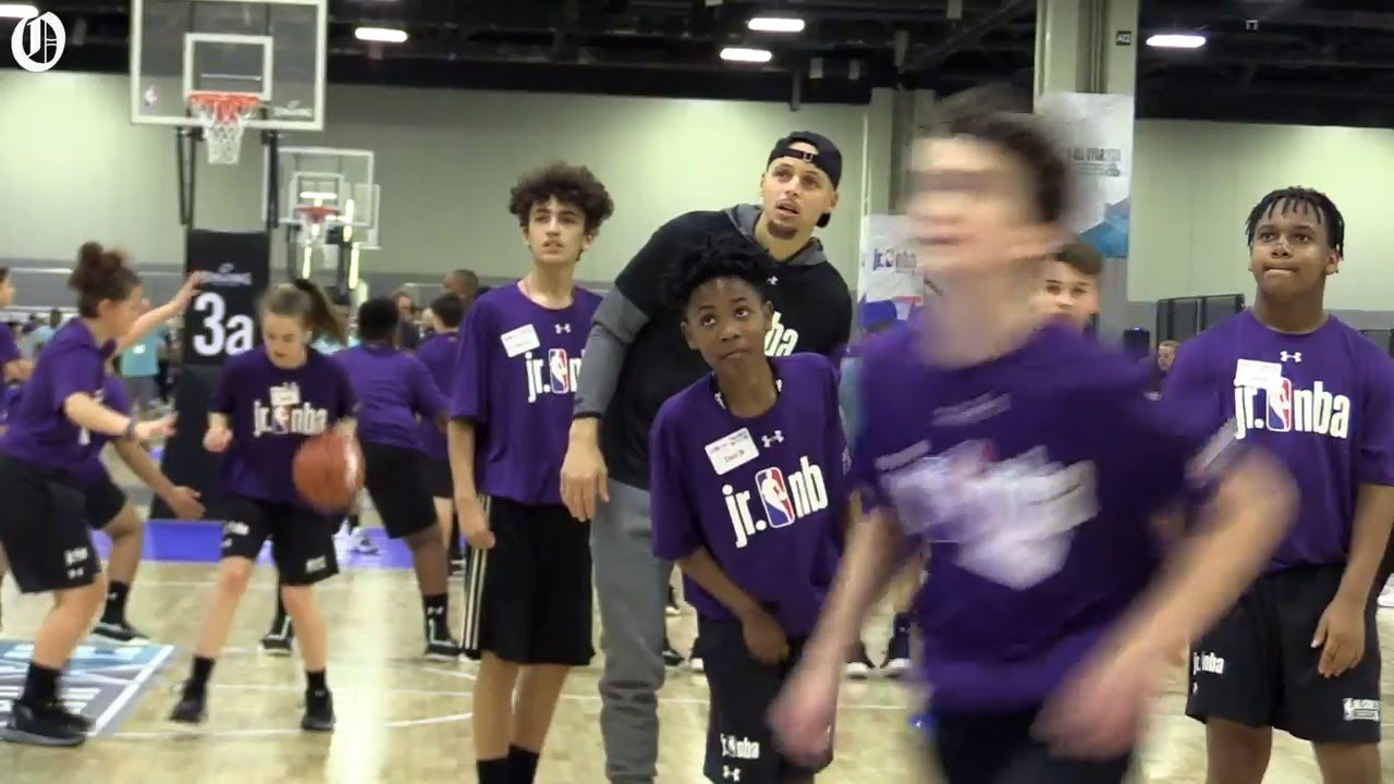 Stephen Curry is a big hit at Annual Jr. NBA Day