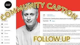 MORE ON: Community Caption Deprecation