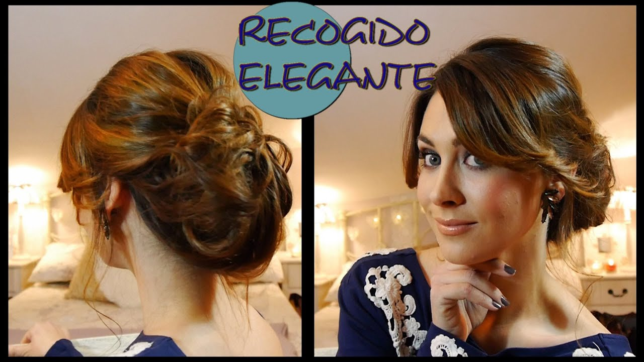 elegante de fiesta fcil elegant and easy updo for parties youtube