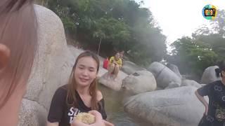 Gia Đình Phạm Trưởng Về Quê Tắm Suối, Hái Nho, Ra Bè...
