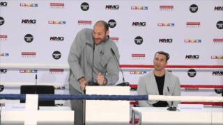TYSON FURY -I DONT HATE ELTON JOHN OR THE QUEEN. I HATE KLITSCHKO FOR BORING YOU TO DEATH FOR 15 YRS