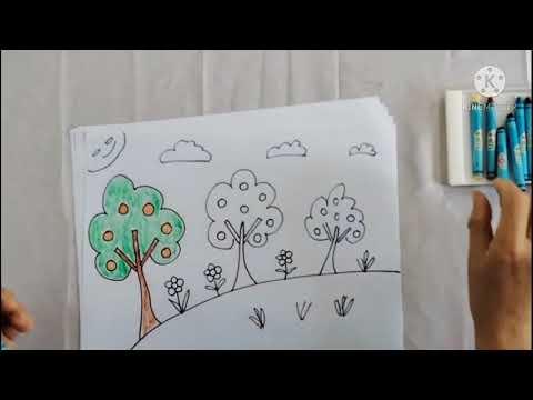 PTTM (Tạo hình) Đề tài: Vẽ vườn cây ăn quả - GV Bùi Thị Chín