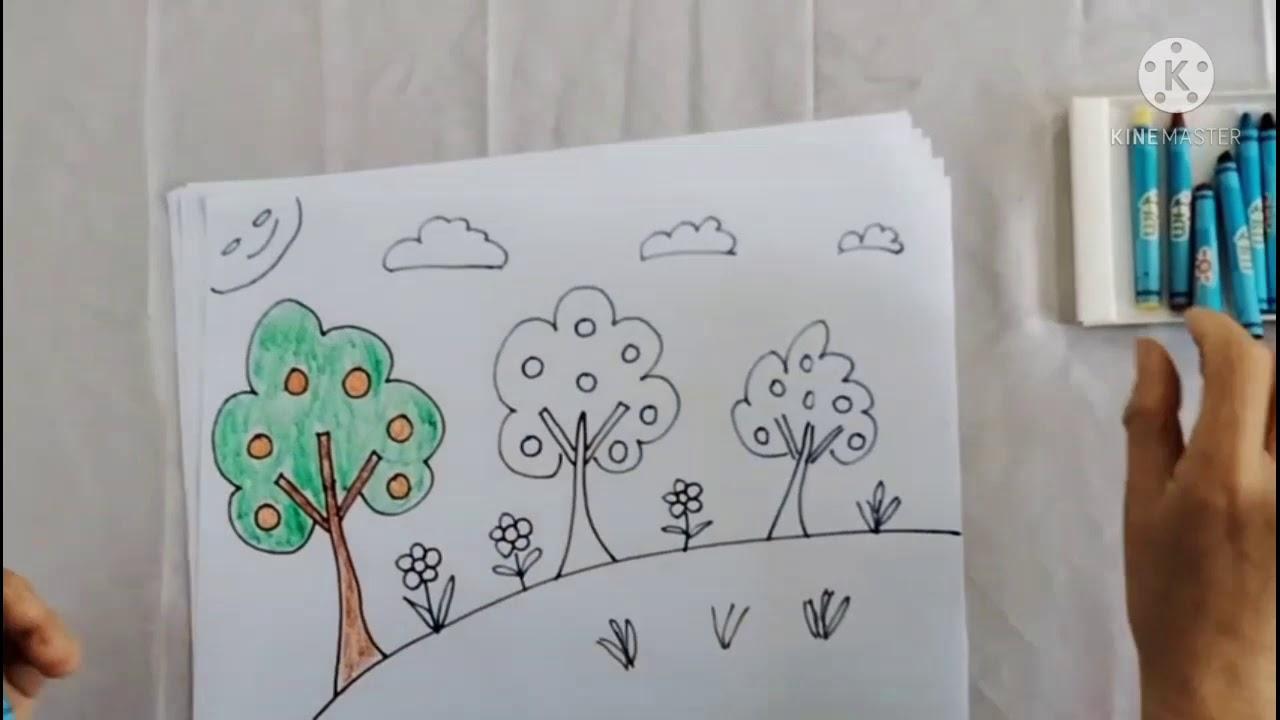 PTTM (Tạo hình) Đề tài: Vẽ vườn cây ăn quả – GV Bùi Thị Chín | Bao quát những kiến thức liên quan đến tranh vườn cây ăn quả đầy đủ nhất