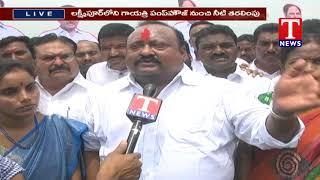 Kaleshwaram Water Reached The Ponds of Karimnagar District  Telugu