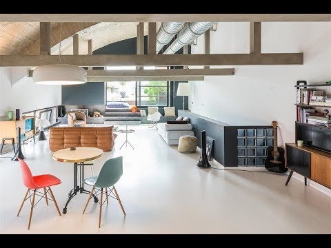 Spacious Duplex Loft-Penthouse in Brussels, Belgium
