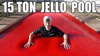 World's Largest Jello Pool Can you swim in Jello?