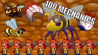 TERRARIA - 100 MECHANICS vs. BOSSES