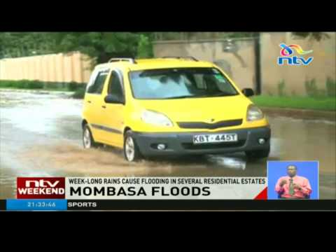 Week-long rains in Mombasa cause flooding in several residential estates